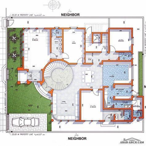 خرائط دور ونصف ڤيلا و شقة سكنية في نص الدور الأول مساحة الأرض ٥٠٠ مساحة الدور الأول ٣٢٠ من تصميم معماري Square House Plans Model House Plan My House Plans