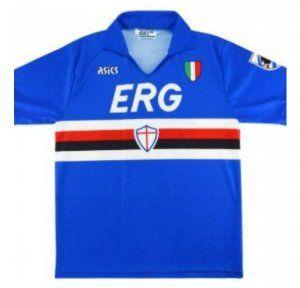 Soccerjerseyparadise Cn Cheap Retro Uc Sampdoria 1990 1991 Home Soccer Jerseys Kit In 2020 Sweatshirt Suit Soccer Jersey Sweatshirts Hoodie