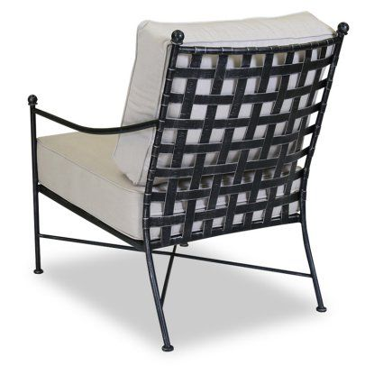 Sunset West Provence Wrought Iron Patio Club Chair Hayneedle