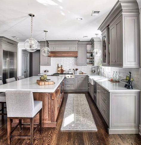 light cabinets mixed with wood island white countertops make it rh pinterest com