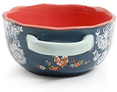 Blue Soup Bowls Urban Market by Gibson 99873.04RM Life on the Farm 4 Pack Handles