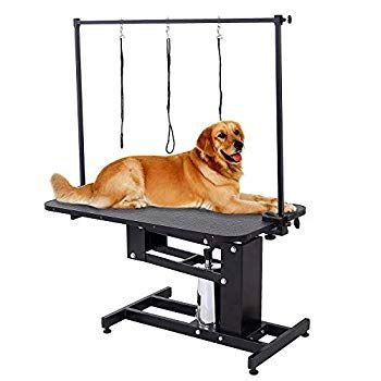 Suncoo Hydraulic Dog Grooming Table Heavy Duty Z Lift Pet Table With Arm Leash Loop Height Professional Adjustabl In 2020 With Images Dog Grooming Best Dogs Cat Grooming