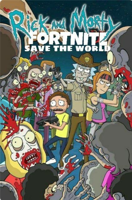 Rick And Morty Fortnite Save The World Salvar El Mundo Comic Book Cover Comic Books Rick And Morty