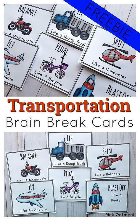 Transportation Gross Motor Ideas