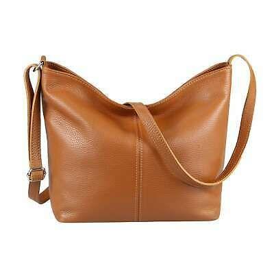 ITAL DAMEN echt LEDER TASCHE Schultertasche CrossOver Umhängetasche Shopper Bag