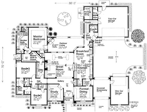 House plans on pinterest floor plans house plans and for Porte cochere house plans