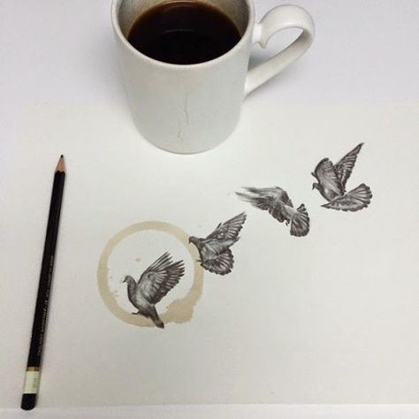 Artist uses paper coffee cups for stunning creations PHOTO