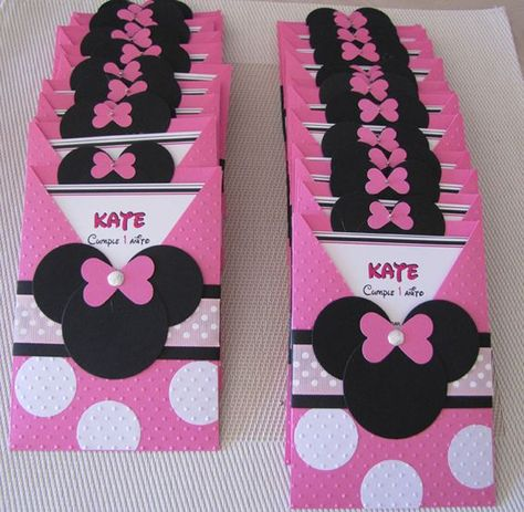 tarjetas de invitacion de minnie mouse