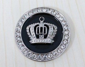 Bling Car interior Accessories Crystal Crown ignition Button Decal Decoration