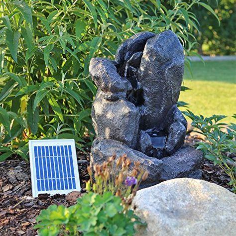 CLGarden Fontaine Solaire nsp14avec Batterie LED éclairage ...