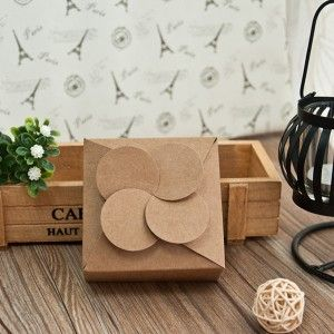 Cheap DIY Rustic Petal Wedding Favor Box EWFB098