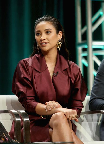 Actor Shay Mitchell of Lifetime's 'YOU' speaks onstage during The 2018 Summer Television Critics Association Press Tour.
