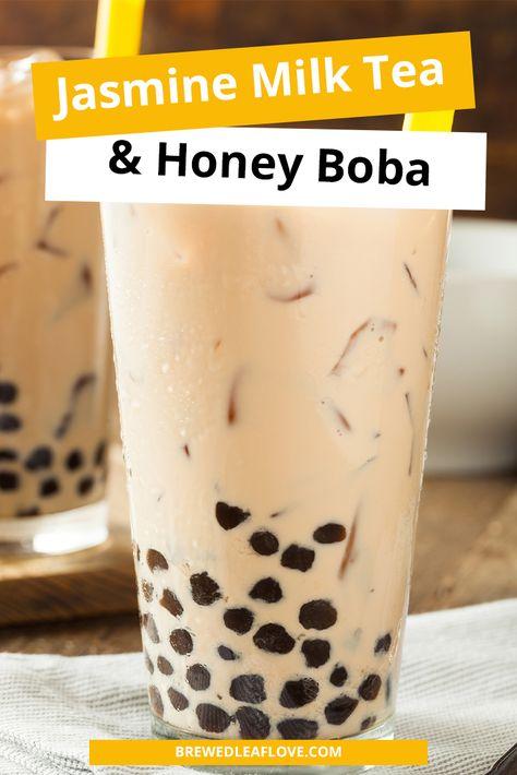 Bubble Milk Tea, Bubble Tea Shop, Honey Boba, Boba Tea Recipe, Thai Milk Tea, Milk Tea Recipes, Boba Drink, Yummy Drinks