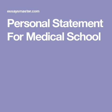 6 Personal Statement Dou0027s and Donu0027ts - personal statement for medical school