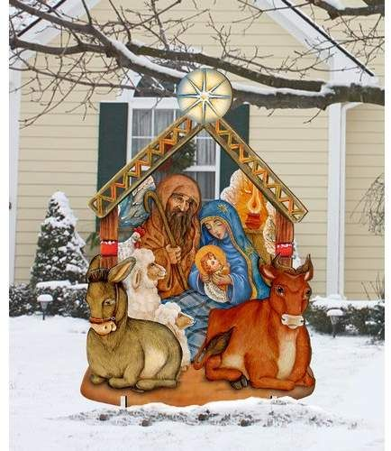 Nativity Lawn Art Outdoor Christmas Outdoor Nativity Outdoor Christmas Decorations