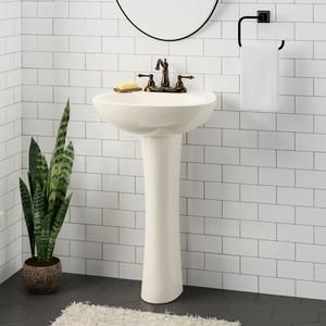 Solon 100 Vitreous China Pedestal Sink In 2019 Pedestal Sink
