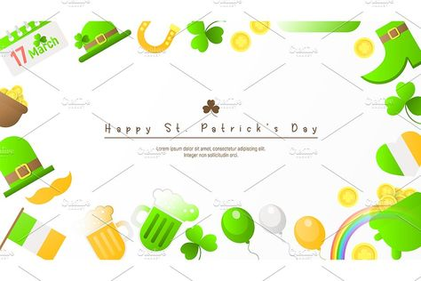 Neon Icons for Patrick's Day #Sponsored , #affiliate, #Fluorescent#Day#Alphabet#Green