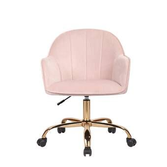 Everly Quinn Penney Task Chair Reviews Wayfair In 2020 Pink Desk Chair Task Chair Adjustable Office Chair