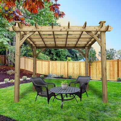 Cedarshed Kalamalka 11 6 W X 11 6 D Solid Wood Pergola Wayfair In 2020 Wood Pergola Cedar Pergola Pergola
