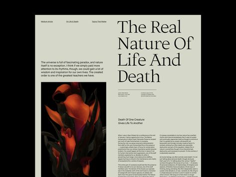 The Real Nature – Article Layout