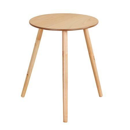 Buy Round Wooden Side Accent Table Unfinished 20 Diam X 25 1 2 H At Walmart Com Round Side Table Accent Table Side Table