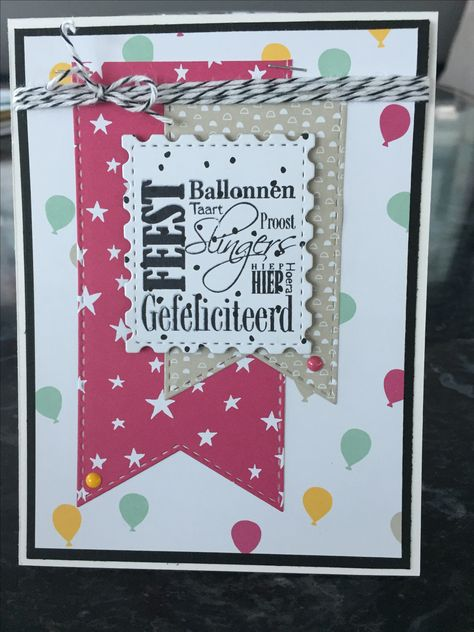 Birthday Card Stampin Up Paperstamp Scrapbook Artelier Kaarten
