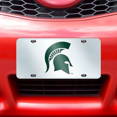 ncaa acrylic inlaid license plate frame michigan state university michigan state spartans - Michigan State License Plate Frame