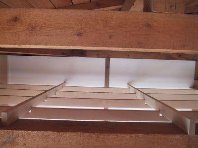ロフトの天井に枠組み加工をする為の溝を 差 さ し側2本に片側4
