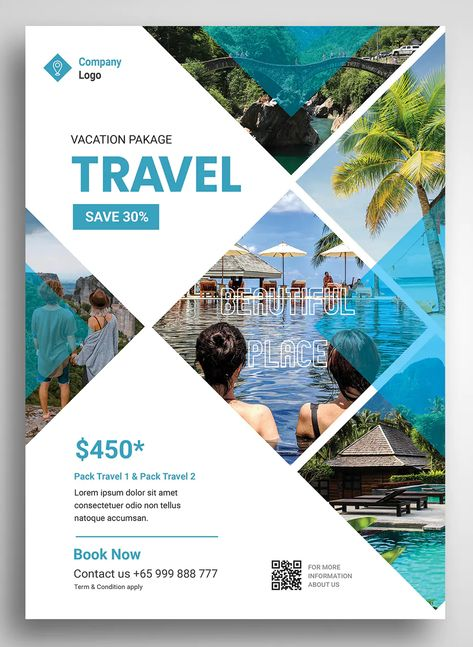 Travel Flyer Promo Template PSD