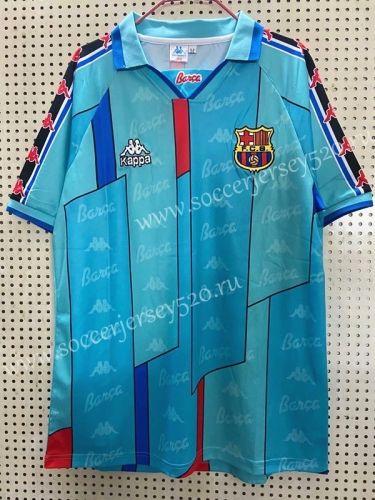 Retro Version 1996 1997 Barcelona Away Blue Thailand Soccer Jersey Aaa 811 Retro Football Shirts Classic Football Shirts Soccer Jersey