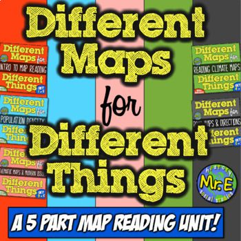 Geography and Map Bundle   Teach Map Skills, Map Reading, & Geography