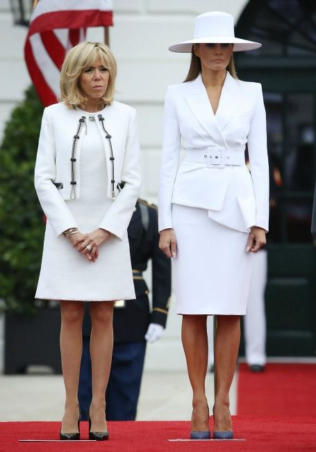 When The Women Steal The Show Why Everyone Is Talking About Melania Trump Brigitte Macron With Images Julkkikset