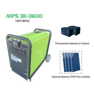 3kw Off Grid Solar Power Generator 3 6 Kwh Battery Storage Mobile Power Station In 2020 Off Grid Solar Power Power Generator Off Grid Solar