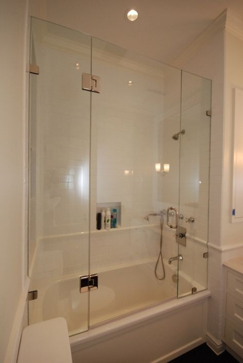 Learn About Bathtub Glass Enclosure Options River Glass Tub Shower Doors Tub With Glass Door Glass Tub