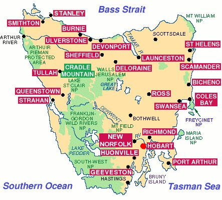 Map of Tasmania Explore Oz SEPTEMBER 2017 Pinterest Tasmania