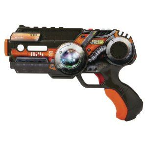 Wowwee Light Strike Striker With Mini Target - Orange Pistol