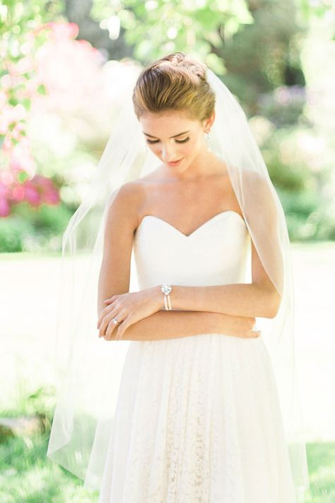 Fleur de Lys seule couche doigt voile, voile simple couche, doigt voile, voile de mariée, Simple voile, voile classique, pour la mariée