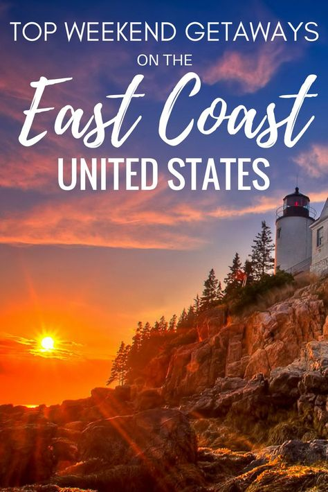 Need to escape your city on the East Coast of the United States for a bit? Click through for 20 weekend getaways you might like! | east coast travel | east coast road trip | east coast beaches | east coast USA | east coast vacations | east coast destinations | US travel bucket list | US travel destinations | weekend trip ideas | weekend getaway USA |