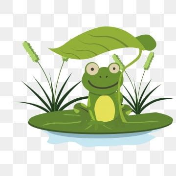 Green Frog Frog Clipart Frog Cartoon Png And Vector With Transparent Background For Free Download Frog Illustration Cute Frogs Leaf Illustration