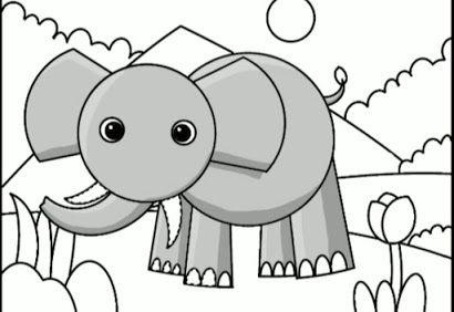 Langkah Langkah Cara Menggambar Gajah Dengan Mudah Untuk Anak Anak Oke Kids Cara Menggambar Gajah Gambar