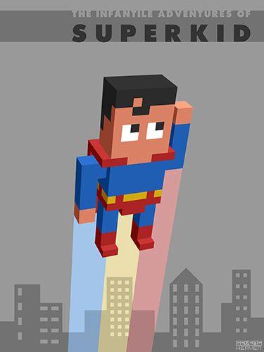 Voxels 3d Pixel Art Pixel Art 3d Pixel Superman Art