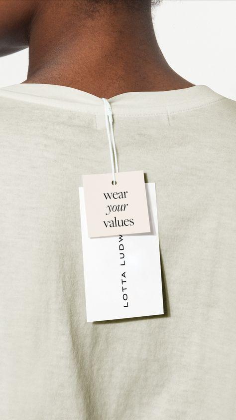 Sustainable Circular Fashion Brand Label Design