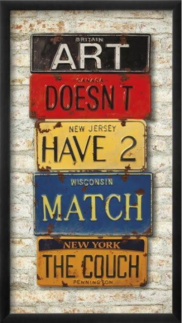 License Plate Man Cave Artwork Industrial Wall Art Vintage Industrial Decor Industrial Artwork