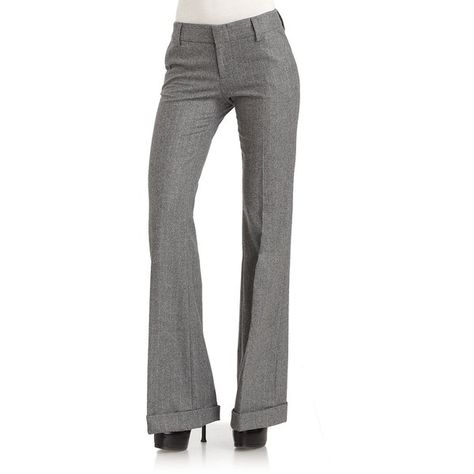 Alice + Olivia Slouchy Pinstripe Trousers ($132) ❤ liked on Polyvore