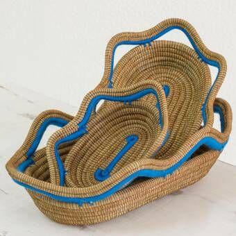 Gouverneur Rattan Wicker Basket Pine Needle Baskets Wood Basket Basket Sets