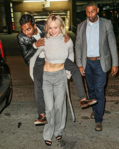 Jennifer Lawrence leaving a Saturday Night Live After Party at The Wayfarer Restaurant in New York on October 11, 2015.