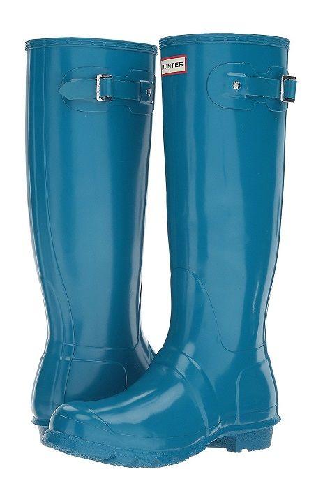 Wide Calf Black Hunter Rain Boots for