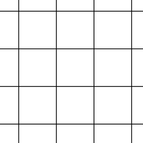 black and white grid large fabric by pencilmein on Spoonflower - custom fabric