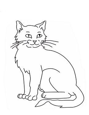 Ausmalbild Sitzende Katze Zum Ausmalen Ausmalbilder Malvorlagen Katze Ausmalbilderkatze Katze Zum Ausmalen Ausmalbilder Katzen Malvorlage Katze