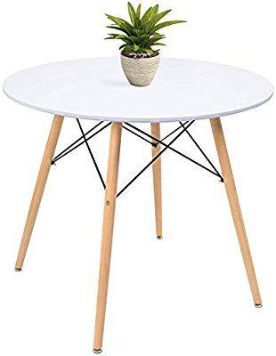 White Modern Round Kitchen Table